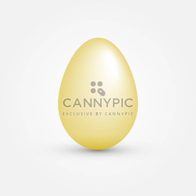 Vektor-Illustration von einem gelben Ei auf weißem Hintergrund - Free vector #125746