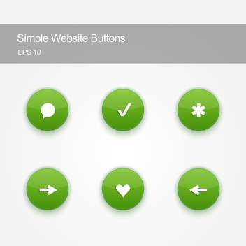 Set of round buttons for website or app on white background - бесплатный vector #125816