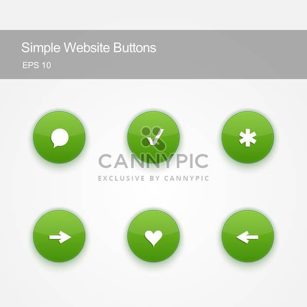 Set of round buttons for website or app on white background - Free vector #125816