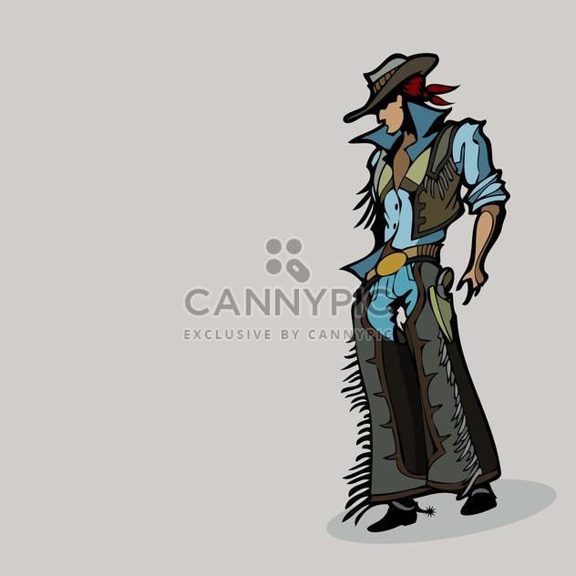 Vektor-Illustration Karikatur westlichen Cowboy Hut auf grauen Hintergrund - Kostenloses vector #125906