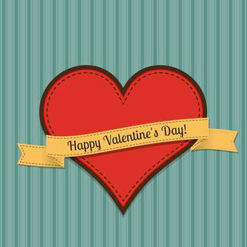 Vector vintage greeting card for Valentine's day with text place - vector gratuit(e) #125916