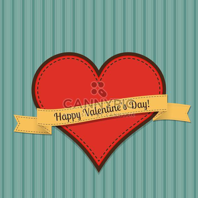 Vector vintage greeting card for Valentine's day with text place - Free vector #125916