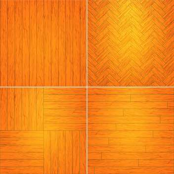 Vector illustration set of brown wooden textures - Free vector #126046