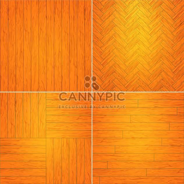 Vector illustration set of brown wooden textures - Free vector #126046