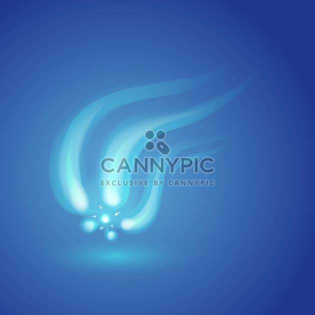 Vector illustration of abstract blue background with light flowing lines - Free vector #126216
