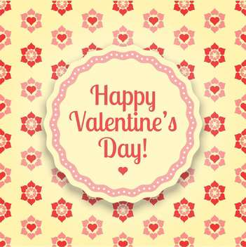 Vector floral background for Valentine's Day with flowers and hearts - vector gratuit #126246