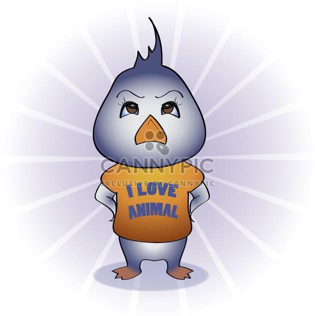 Vector illustration of cartoon bird protector of animals - Free vector #126256