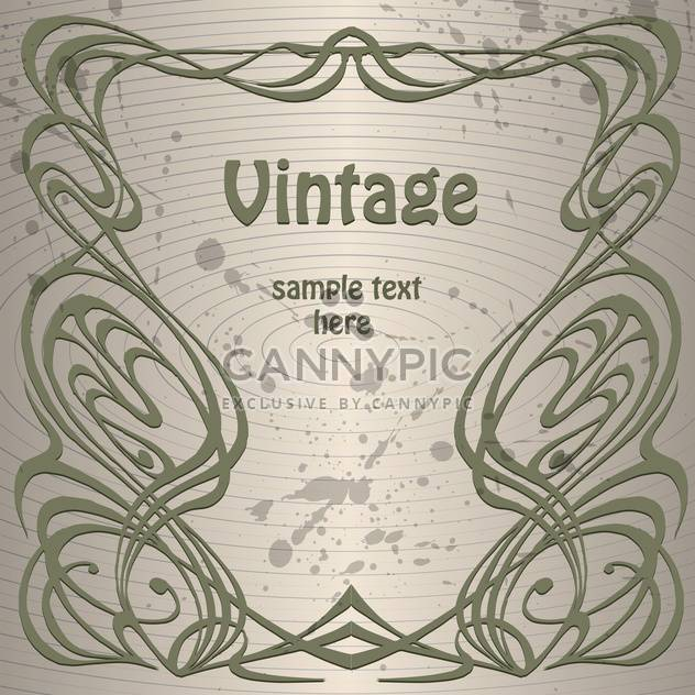 Vector vintage background with text place and paint signs on grey background - Free vector #126286