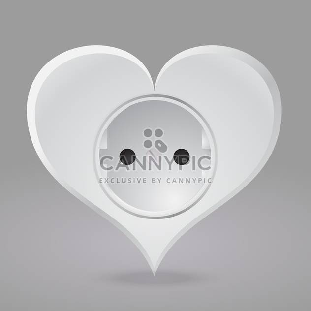 Vector illustration of heart shaped socket on grey background - Free vector #126426