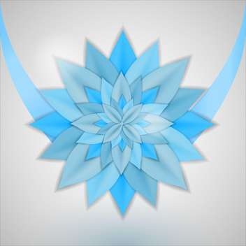 Vector background with abstract blue flower on grey background - Free vector #126436