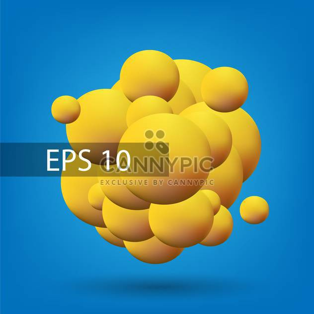Vector abstract background with yellow bubbles on blue background - Free vector #126576