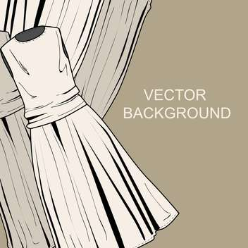 Vector colorful background with fashion female dresses - vector gratuit #126666