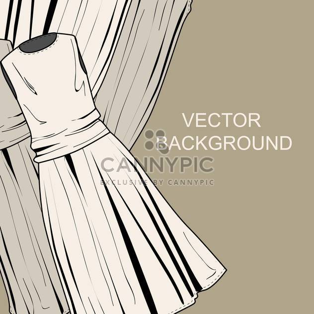 Vector colorful background with fashion female dresses - Free vector #126666