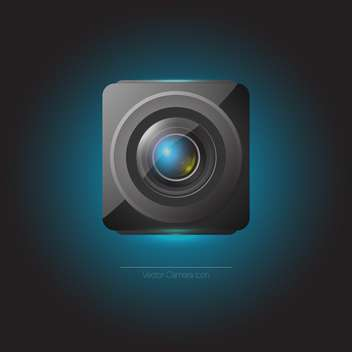 Vector web camera icon on dark blue background - Free vector #126676