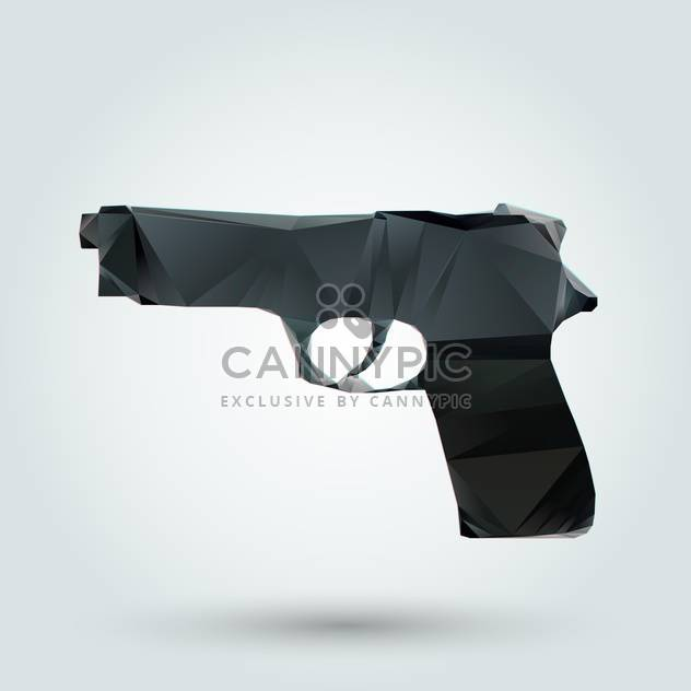 Vector illustration of abstract gun on white background - Free vector #126726