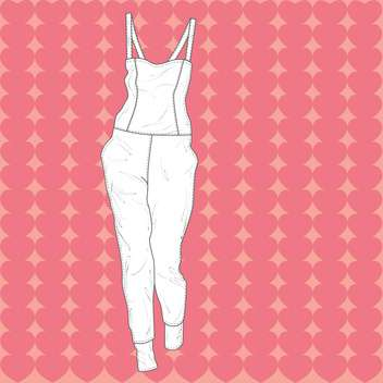 Vector illustration of fashion overall on pink background - vector #126776 gratis