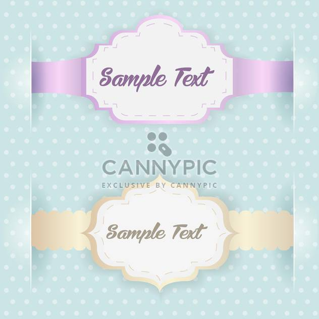Vector blue vintage frames with text place - Free vector #126816