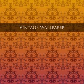 Vector colorful vintage wallpaper with floral pattern - vector gratuit #126826