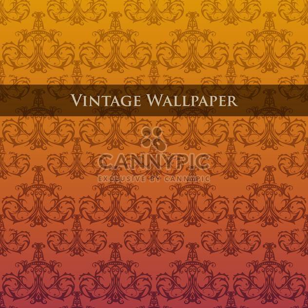 Vector colorful vintage wallpaper with floral pattern - Free vector #126826