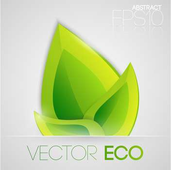 Vector illustration of eco green leaves on white background - vector gratuit #126886