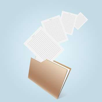 Transparent brown folder on blue background - Free vector #126896