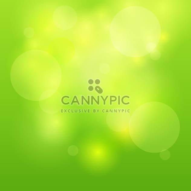 Vector illustration of green abstract light background - Free vector #126966