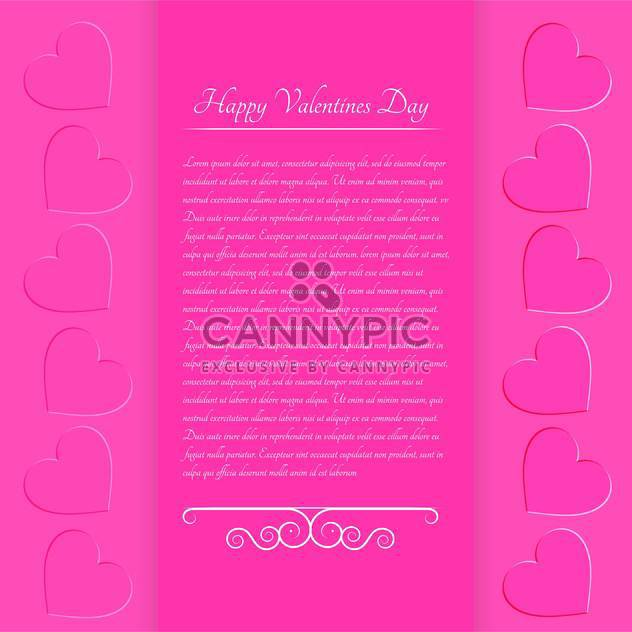 Rosa Valentinstag Hintergrund mit Text Platz und Herz - Kostenloses vector #127056