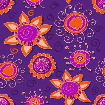 Vector floral purple background with curve flowers - бесплатный vector #127116
