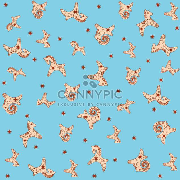 Seamless toy pattern on blue background - Free vector #127136