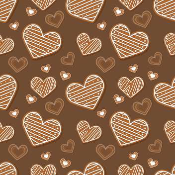 Vector brown background with hearts - vector gratuit #127256