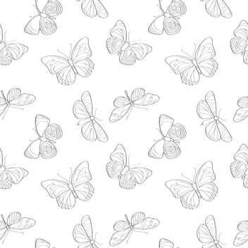 Vector illustration of seamless butterflies background - бесплатный vector #127306