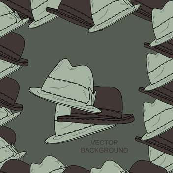 Vector background with fashion male hats - Free vector #127366