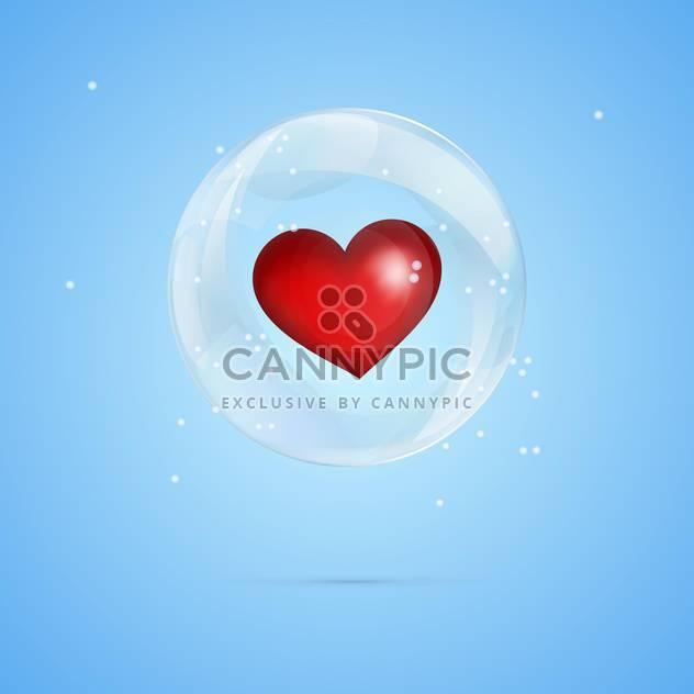 Vektor-Illustration von roten Herzen in Blase auf blauem Hintergrund - Kostenloses vector #127376