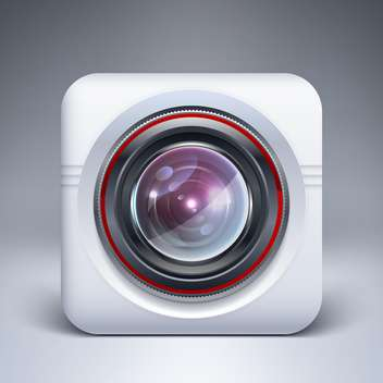 vector illustration of web camera icon - vector gratuit #127526