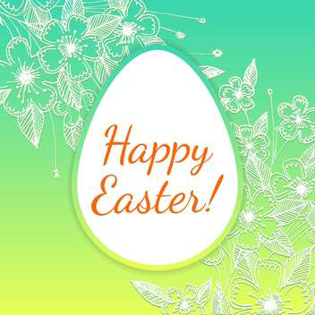 Vector illustration of floral easter egg - Free vector #127596