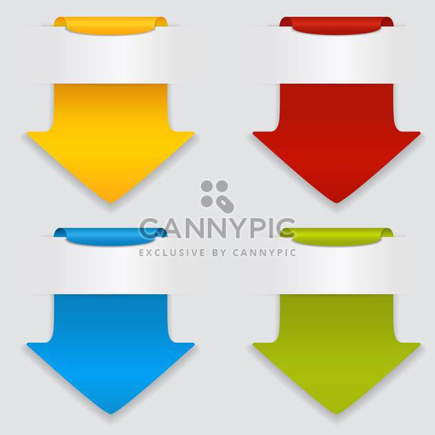 Vector set of colored arrows on white background - Free vector #127636