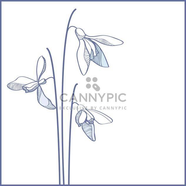 Vektor-blaue Blumen auf weißem Hintergrund - Kostenloses vector #127696