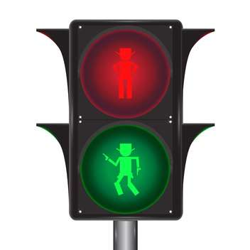 Vector of traffic light with cowboy on white background - Kostenloses vector #127706
