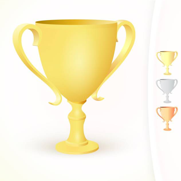 vector illustration of winner's cups on white background - бесплатный vector #127746