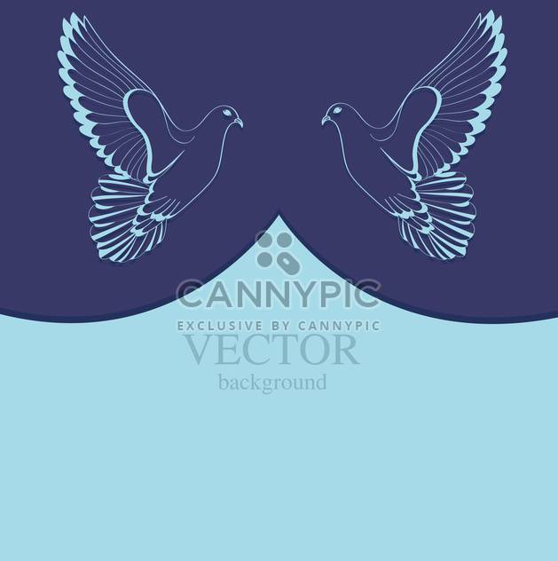 two doves on blue background with text place - Free vector #127856