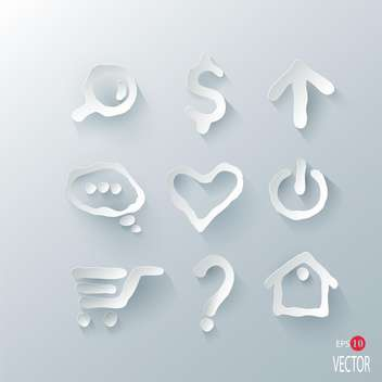 vector illustration of marks set on silver background - бесплатный vector #127886