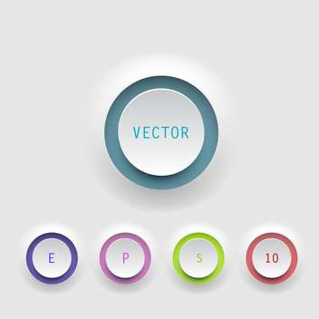 Vector colorful round shaped buttons on white background - Free vector #127966