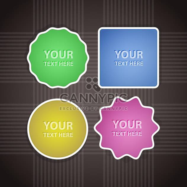 Vector design elements on grey background - Free vector #127986