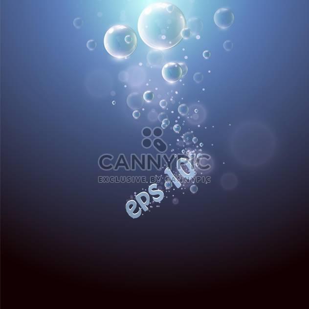 Wassertropfen auf blauem Hintergrund - Free vector #128046