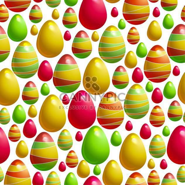 holiday background with easter eggs - Free vector #128056