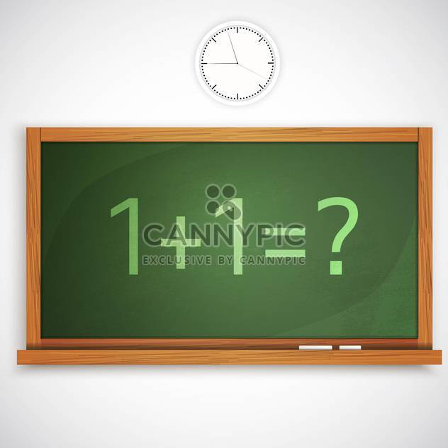 vector illustration of class green color chalkboard - Free vector #128096