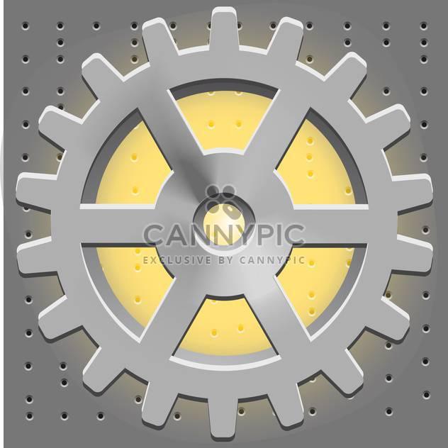 Vektor-Metal Zahnrad-Symbol - Kostenloses vector #128146