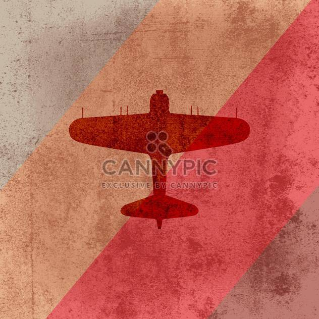 Vector retro airplane on grunge background - Free vector #128156