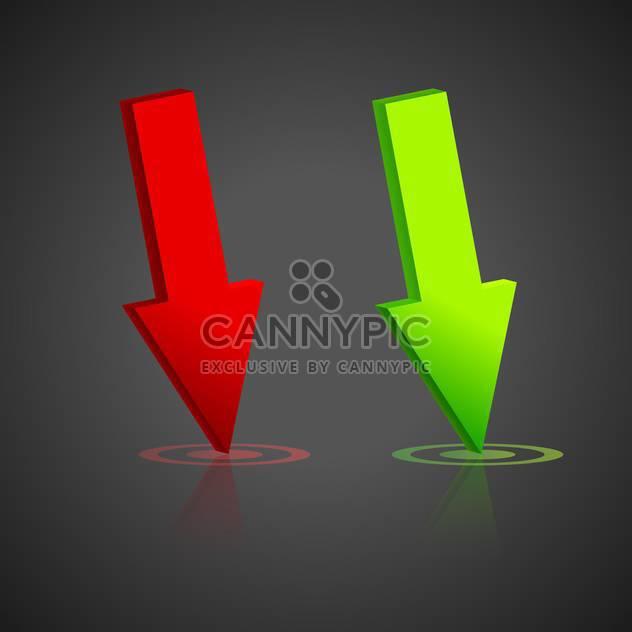 Grüne und rote Vektor-Pfeile - Kostenloses vector #128186