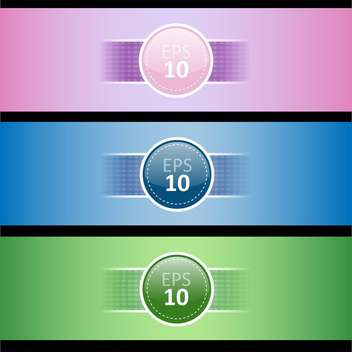 set with three colored banners, vector Illustration - бесплатный vector #128256